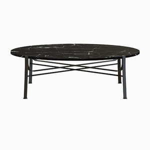 MERGE Coffee Table in Black with Black Marble Top by Alex Baser for MIIST