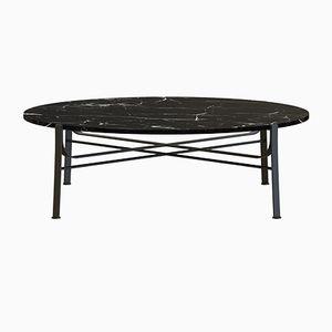 Tavolino da caffè MERGE nero con ripiano in marmo nero di Alex Baser per MIIST