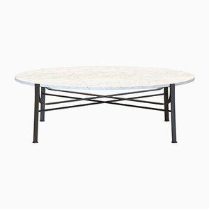 Table Basse MERGE Noire avec Plateau en Marbre Blanc par Alex Baser pour MIIST
