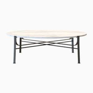 MERGE Coffee Table in Powder-Coated Steel & Carrara Marble by Alex Baser for MIIST