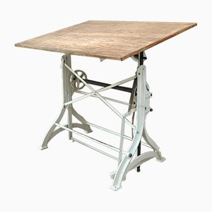 Antique Adjustable Architect Table in Cast Iron, 1900s