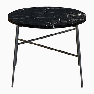 Mesa de centro HIGE en negro con tablero de mármol negro de Alex Baser para MIIST