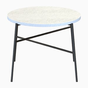 HIGE Coffee Table in Black with White Marble Top by Alex Baser for MIIST
