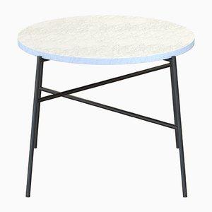 Table Basse HIGE Noire avec Plateau en Marbre Blanc par Alex Baser pour MIIST