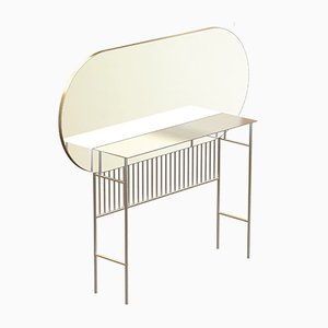 NAIVE Brass-Plated Mirror Console by Alex Baser for MIIST