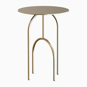 DOME Brass-Plated Coffee Table by Alex Baser for MIIST
