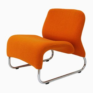 Orange Ecco Lounge Chair by Møre Design Team for Hjelle Møbelfabrikk, 1971