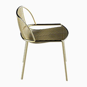 SERENA Brass-Plated Dining Chair by Alex Baser for MIIST