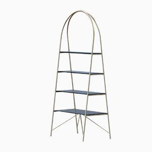 BISSET Brass-Plated Bookcase by Alex Baser for MIIST