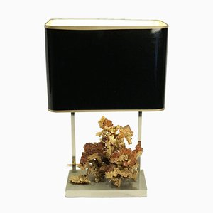 Table Lamp with Gold Gilt Bronze Coral-Style Base, 1970s