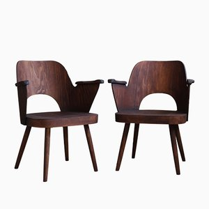 Beechwood Model 1515 Dining Chairs by Lubomír Hofmann for TON, 1960s, Set of 2