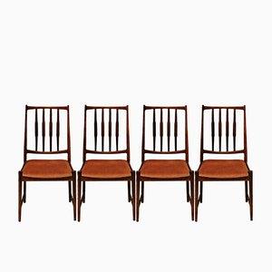 Darby Palisander Esszimmerstühle von Torbjørn Afdal für Bruksbo, 1960er, 4er Set