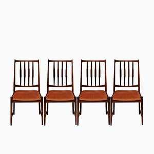 Darby Rosewood Dining Chairs by Torbjørn Afdal for Bruksbo, 1960s, Set of 4
