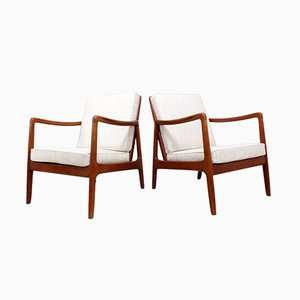 Armchairs by Ole Wanscher for France & Daverkosen, 1950s, Set of 2