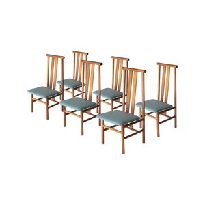 Italian Teak Chairs, 1960s, Set of 6