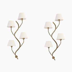 Große Mid-Century Wandlampen von Astra, 1960er, 2er Set