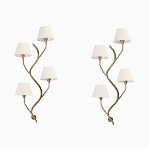 Large Mid-Century Wall Lights from Astra, 1960s, Set of 2