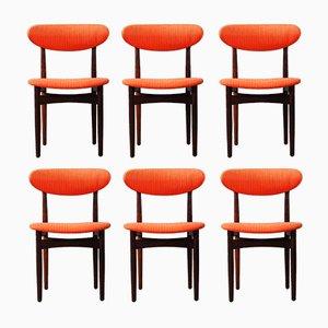 Palisander Esszimmerstühle von Scantic Møbelverkverk, 1960er, 6er Set