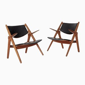 CH 28 Sawbuck Armchairs by Hans Wegner for Carl Hansen & Søn, 1950s, Set of 2