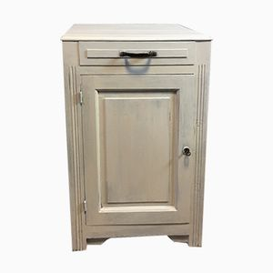 Mid-Century French Cabinet with Drawer & Door