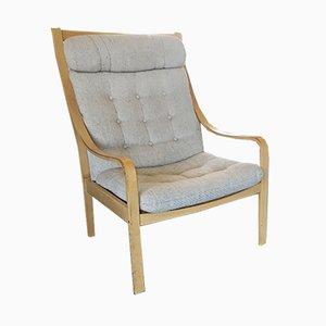 Vintage Danish Beech Lounge Chair