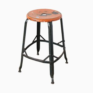 Vintage Industrial Stool from Nicolle