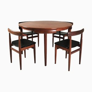 Vintage Danish Roundette Dining Set by Hans Olsen for Frem Rojle