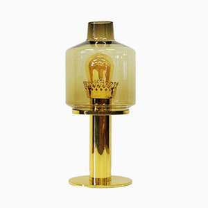 Lámpara de mesa B102 de vidrio y latón de Hans-Agne Jakobsson para Markaryd, años 60