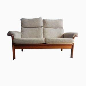 Sofá de dos plazas danés de teca, años 60