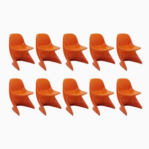 Casalino Children's Chairs by Alexander Begge for Casala, 1960s, Set of 10