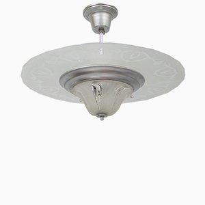 Lámpara de techo Art Déco vintage de Ezan