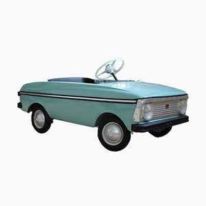 Blue Moskvich Toy Pedal Car, 1976