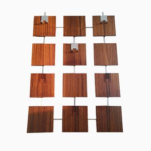 Mid-Century Teak Wall Coat Rack, 1970s
