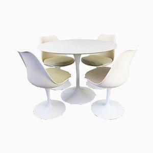 Set da pranzo Tulip con tavolo in marmo di Eero Saarinen per Knoll, anni '60