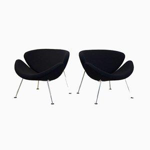 F437 Orange Slice Chairs by Pierre Paulin for Artifort, 1960s, Set of 2