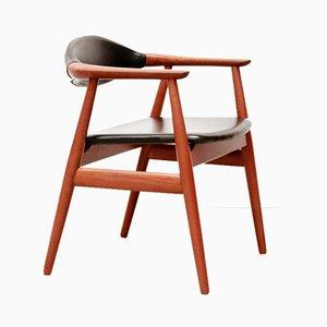 Silla de escritorio de teca de Erik Kirkegaard para Glostrup, años 60