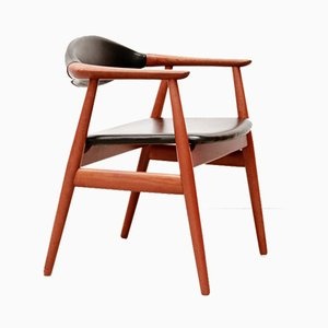 Teak Desk Chair by Erik Kirkegaard for Glostrup, 1960s