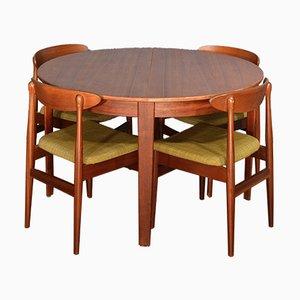 Table Extensible Vintage avec Chaises en Teck, Danemark, 1960s