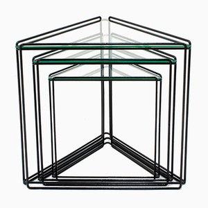 Isosceles Triangle Nesting Tables by Max Sauze, 1970s