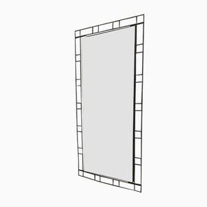 Espejo con marco de metal negro de FF, años 70