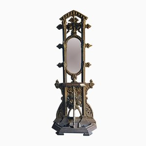 Victorian Coalbrookdale Hall Stand in Cast Iron, 1850s