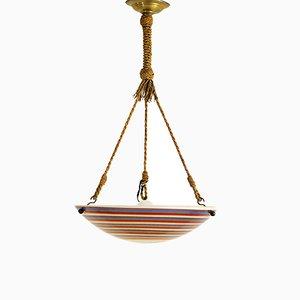 Lámpara colgante Art Déco, años 30