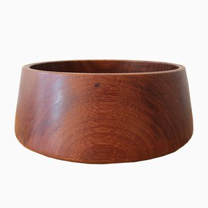 Afrormosia Wooden Bowl, 1960s