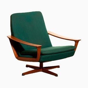 Sedia girevole in teak di Johannes Andersen per Trensum, anni '60