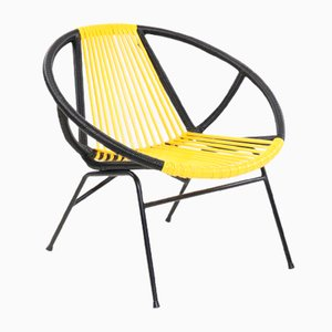 Vintage Yellow and Black Armchair