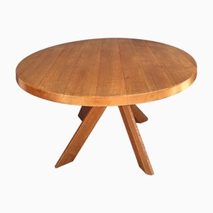Vintage Round Sfax Dining Table by Pierre Chapo