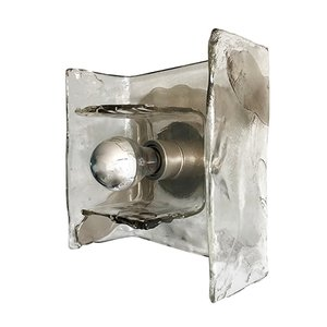 Flush Mount in Smoked Glass by Carlo Nason for Mazzega, 1970s