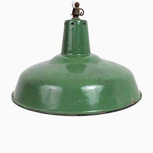 Lámpara colgante de taller esmaltada, años 30