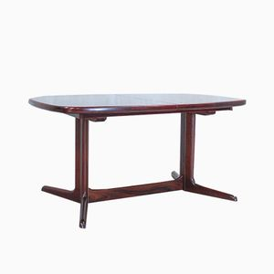 Danish Oval Rosewood Dining Table from Rasmus, 1960s