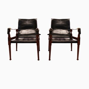 Safari Chairs von M. Hayat & Brothers, 1970er, 2er Set